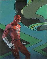 """Vintage Moebius Jean Giraud Daredevil Poster Print 1990 Marvel Comics 22"""" x 34"""""""
