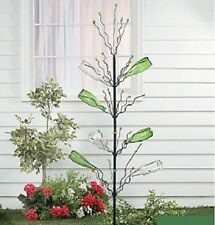 """Unique Tall Bottle Tree Garden Stake w/ Marble Tips Yard Art Decor Approx. 45""""H"""
