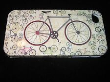 Bicycle Hard Cover Case for iPhone 4 4s Tan Case with Multiple Bicycles