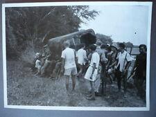 PHOTO ORIGINALE 1946 INDOCHINE SIAM PARTISANS COCHINCHINOIS COMBAT CAU NGHAN