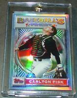1993 93 FINEST REFRACTOR #125 CARLTON FISK HOF WHITE SOX SHARP