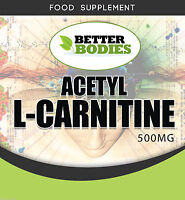 Acetyl L-Carnitine 500mg Packs of 60 120 180 360 UK