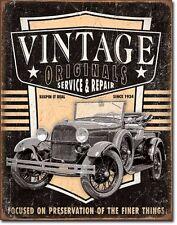Vintage Originals antique truck wall art TIN SIGN metal auto garage decor 2027