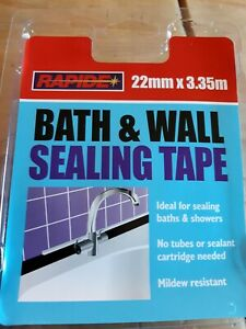 ☆NEW Rapide Bath And Wall Sealing Tape 22mm x 3.25 metre☆