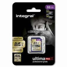 Integral 32GB UltimaPro X SDHC UHS-I Class 10 Card - 95MB/s read & 90MB/s write.