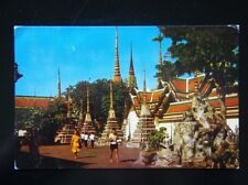 40 - BANGKOK THAILAND - SCENERY OF WAT PO - 1961 POSTCARD