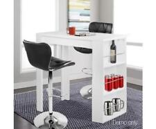 Kitchen / Breakfast Bar / High Cocktail Table Desk w/ 3 Level Storage Wine Rack