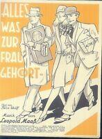 Leopold Maaß : Alles was zur Frau gehört ~ alte Noten