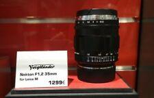 Voigtländer Nokton 1,2/35 mm asphärisch II VM schwarz, Objektiv