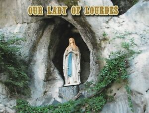 """*France Postcard-""""Statue of Our Lady of Lourdes"""" @ Grotto of Massabielle-"""