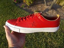 Converse  One STAR LEATHER OX CASINO RED / SAND DUNE 153699C  Men's SIZE 13 NEW