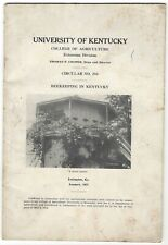 UNIVERSITY OF KENTUCKY COLLEGE OF AGRICULTURE BEEKEEPING IN KENTUCKY 1937 ILLUST