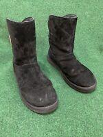 UGG Australia 1092709 Remora Bucklet Leather Ankle Sheepskin Boots Black 11