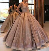 Long Prom Quinceanera Dress 2020 Spaghetti Strap Evening Wedding Party Ball Gown