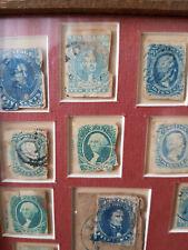 More details for 1861/3 confederate states, war time vintage stamps, framed cat value £ 2,538.00