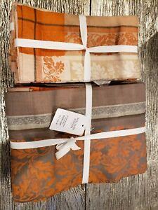 "Williams-Sonoma Acorn Harvest Jacquard Tablecloth 70""X126"" + 2 Sets Napkin 4/ea"