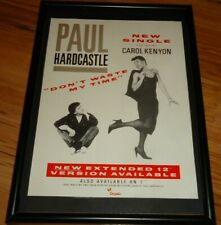 PAUL HARDCASTLE don't waste my time framed original press release promo poster