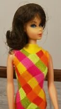 Vintage Brunette ORIGINAL SWIMSUIT + STAND Twist N Turn Barbie Doll 1969 Mattel