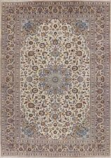 TOP DEAL Vintage Traditional Floral IVORY Kashaan Area Rug Wool Hand-made 9x13