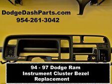 94 95 96 97 Dodge Ram Instrument Cluster Bezel Replacement - Black Color - NEW !