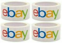 """4 Rolls eBay Branded Adhesive Packing Tape 2"""" x 75 Yards Packaging"""