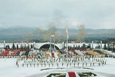 OLD SPORTS PHOTO Opening Ceremony For The Xiii Olympic Winter Games Lake Placid