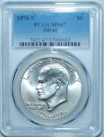 1976 S PCGS MS67 Silver $1 Eisenhower Ike Dollar