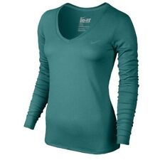 a2a9c531e NEW Womens Nike Long sleeve Legend Top 2.0 - Large Teal Green