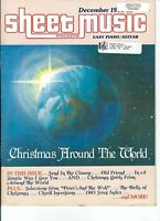Sheet Music Magazine Christmas Around The World December 1983 102414R