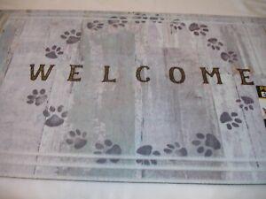 New! Animal Cat Dog Paw Prints Door Mat Outdoor Floor Mat Kitchen Rug Mat