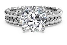 1.99ct Brilliant Cut Diamond Engagement Ring Wedding Band Solid 14k White Gold