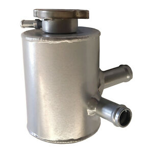 """Universal Aluminum Coolant Expansion Header Water Tank With Cap Silver 4""""x3"""""""