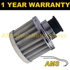 16mm MINI AIR OIL CRANK CASE BREATHER FILTER FITS MOST CARS SILVER ROUND