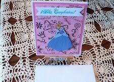 DISNEY ~PRINCESS CINDERELLA FELIZ CUMPLEANO ~BIRTHDAY HANDMADE GREETING CARD