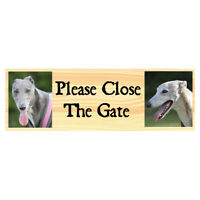 Personalised Dog Metal Sign Please Close The Gate Beware Of The Dogs Kennel Run