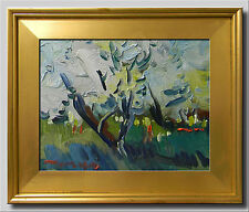 JOSE TRUJILLO Oil Painting Modern Impressionist BLOOM TREES CONTEMPORARY SIGNED
