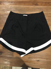Polyester Patternless High Waist Hand-wash Only Shorts for Women