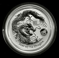Drache 2012 Dragon Lunar II Privy Mark Löwe - Lion 1$ 1 Unze Silber ST