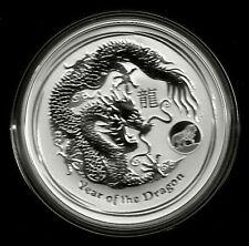 Dragón 2012 Dragon lunar II privy Mark León-Lion 1 $1 onza de plata St