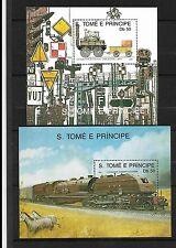 S. Tomé principe neuf** blocs 69-87 train railway  chemin de fer  ferrocaril
