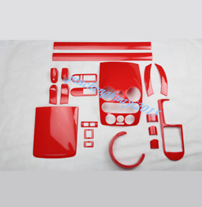 20PCS Red ABS Style Car Inner Kit Cover Trim For Volkswagen VW Beetle 2006-2012