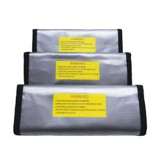 Lot 3PCS Protection LiPo Battery Fireproof Safety Guard Bag Sack 185x75x60mm
