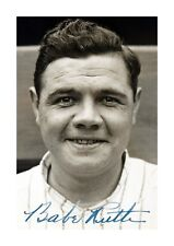 More details for babe ruth a4 signed mounted photograph picture poste. choice of frame
