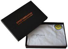 Gordon McQueen SIGNED Leeds United Shirt Autograph Gift Box New AFTAL COA