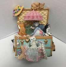 """The San Francisco Music Box Co Kitty Treasure Trunk- Plays """"My Favorite Things"""""""