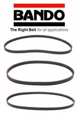 BANDO Replacement for 1990-1991 Acura Integra Models rs gs ls 3 piece serpentine drive belt set 4PK840 4PK775 2355 ALTERNATOR AIR CONDITIONER POWER STEERING