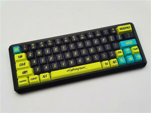 Cyber Keycap Punk Button PBT 2077 Sublimation OEM 108 Keys Keycaps Cherry MX