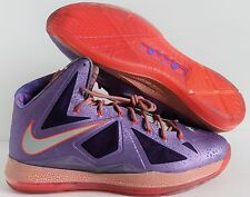 NIKE LEBRON X 10 AS AREA 72 ALL STAR GALAXY LASER PURPLE SZ 17 [583108-500]
