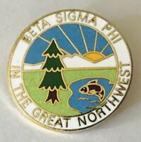 Beta Sigma Phi In The Great Northwest Fraternity Pin Badge Rare Vintage (A7)