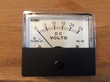 Altai MU-38 Analogue Panel Meter (D.C 25 Volt) un-used/old shop stock
